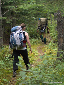 Heading back to west trailhead.  Trail here is very distinct and hiking on pine needle covered trail is was very comfortable.