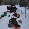 This is a story of three Boundary Waters Advisory Committee (BWA Committee) volunteers on a trail clearing mission.  Objective:  Snowshoe 18 miles to clear a spur trail less than 200 yards long in the BWCA.  It's 3 pm on Friday on Brule Lake road.