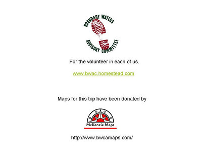 For more information how to volunteer and events, see www.bwac.homestead.com For maps of the area visit McKenzie Maps at www.bwcamaps.com