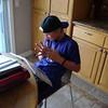 Trevor doing homework
