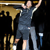 University of Colorado's Chucky Jeffery is announced to the crowd during Buff Madness on Friday, Oct. 12, at the Coors Event Center on the CU campus in Boulder. <br /> Jeremy Papasso/ Camera