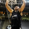 University of Colorado's Spencer Dinwiddie dunks the ball during Buff Madness on Friday, Oct. 12, at the Coors Event Center on the CU campus in Boulder. <br /> Jeremy Papasso/ Camera