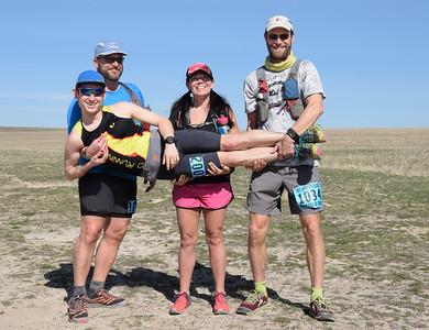 Ryan, Christie, Sean and myself...quite ready to run.  Photo:  Dondi