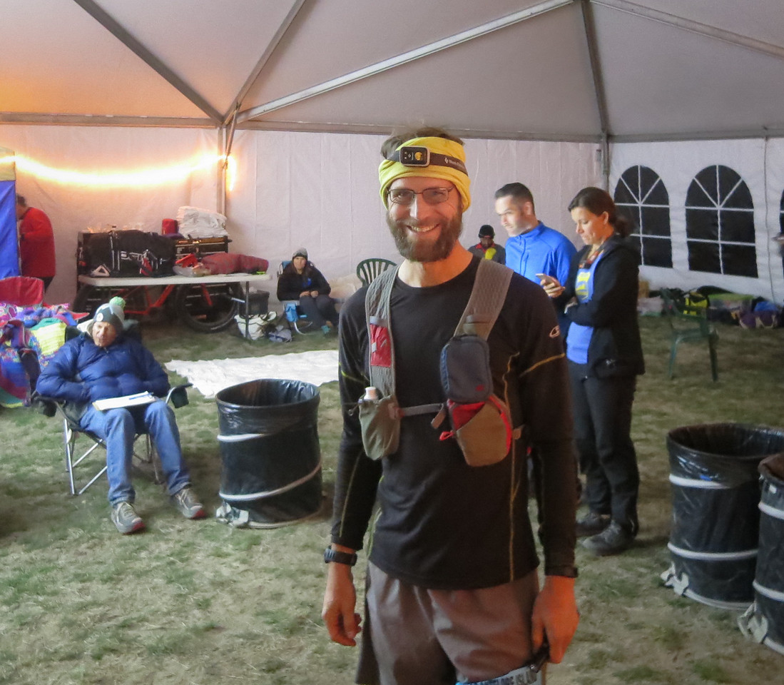 Refueled at mile 50, feeling more energetic.  Photo:  AS volunteer