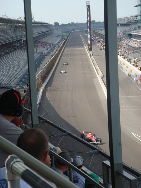 Practice as seen from the upper stands in turn 1