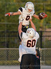 #8 Hauss Hejny gets a celebratory lift from #60 <br /> Isaac Knott after Hejny scores and Aledo touchdown. Burleson High vs Aledo Football, Sept. 17th, 2021