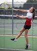 Kylie Haas plays for Burleson Varsity tennis against Burleson Centennial High, Sept. 14, 2021