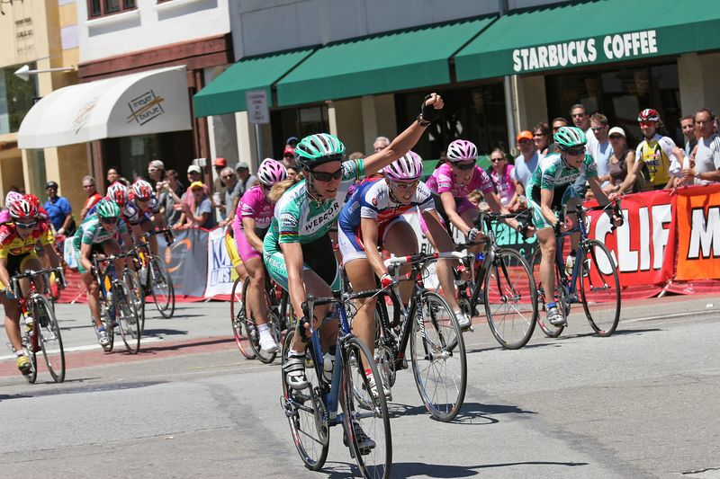 Karen Brems wins the sprint for 2nd