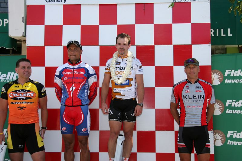 Masters 1/2/3 Podium: Shaun Bagley 4th, Billy Clark 2nd, Dean LaBerge 1st, Brian Laird 6th