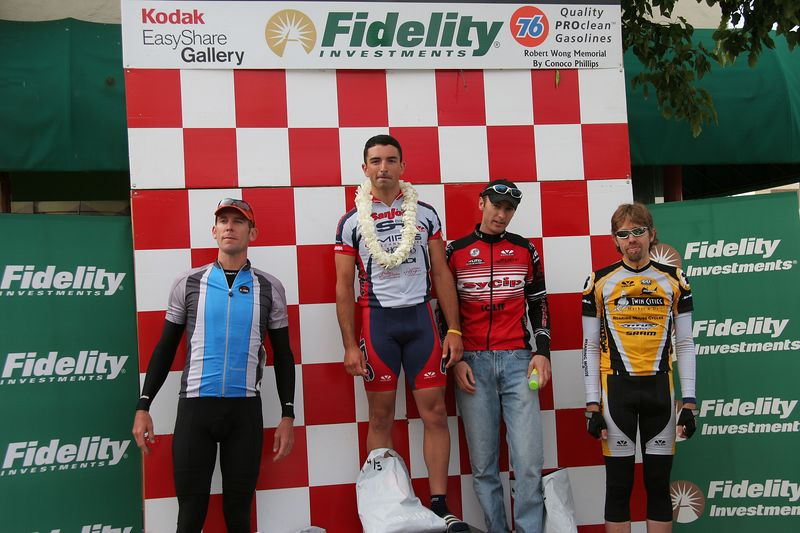 Men 4/5 Podium: Clinton Jones 4th, Brad Cabral 1st, Aron Bonar 3rd, Peter Lemon 5th