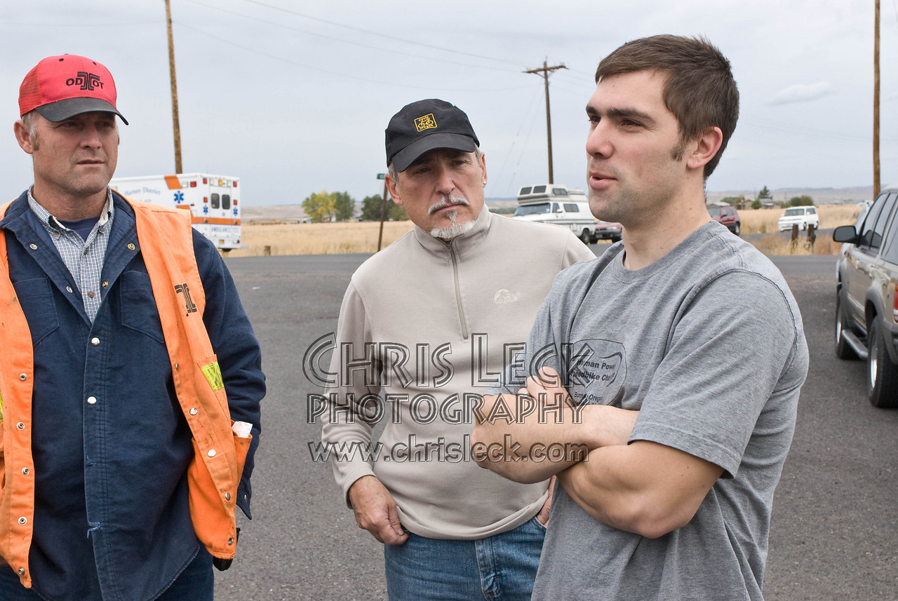 Sam Whittingham, Lonnie Morse, and ODOT supervisor (r-l)