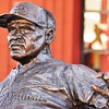 """Enos Slaughter.  Statue shows Enos's """"Mad Dash"""" from second to home on a single to win the World Series against Boston in 1946."""