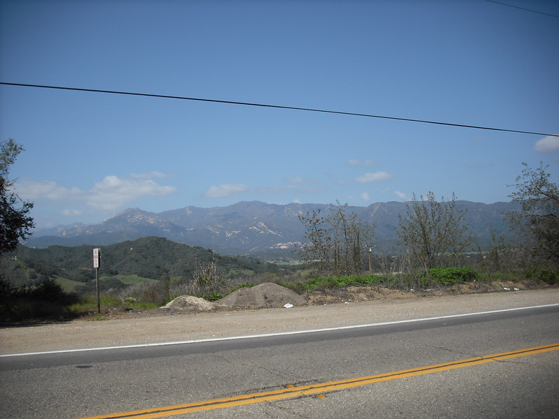 Near Oak View, about 3-4 miles from Ojai.