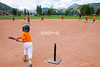 Children playing TeeBall baseball in Crsted Butte, Colorado on Wednesday, July 18, 2012. (Nathan BIlow)