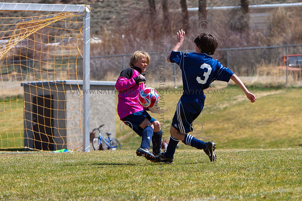 Crested Butte U12 soccer in Gunnison on Saturday, April 28, 2012. (Photo/Nathan Bilow)