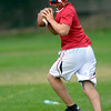 """Quarterback David Shald during a practice of the Centaurus High School football team at the school in Lafayette Friday Evening August 24, 2012. For more photos of the practice go to  <a href=""""http://www.bocopreps.com"""">http://www.bocopreps.com</a><br /> Photo by Paul Aiken"""