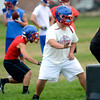 "Lineman Bradley Lowry during a practice of the Centaurus High School football team at the school in Lafayette Friday Evening August 24, 2012. For more photos of the practice go to  <a href=""http://www.bocopreps.com"">http://www.bocopreps.com</a><br /> Photo by Paul Aiken"