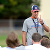 """Chad Senseney, Head Coach & Defensive Coordinator at Centaurus High School during a practice of the Centaurus High School football team at the school in Lafayette Friday Evening August 24, 2012. For more photos of the practice go to  <a href=""""http://www.bocopreps.com"""">http://www.bocopreps.com</a><br /> Photo by Paul Aiken"""