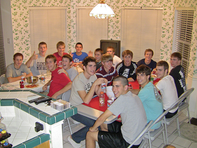 District 23-5A Champions and ESPN-ranked #1 in the nation Rangers soccer players at team dinner on March 5, 2009.