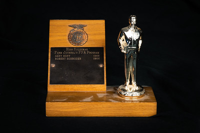 1965-66 CHS Cosmos FFA High Salesman Award