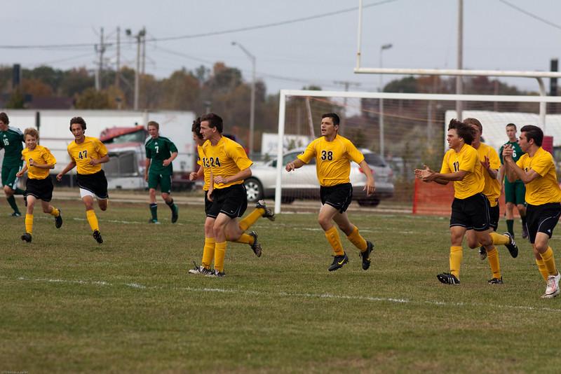 Regional final vs. Mattoon at Effingham, 10/23/10, won 3-1