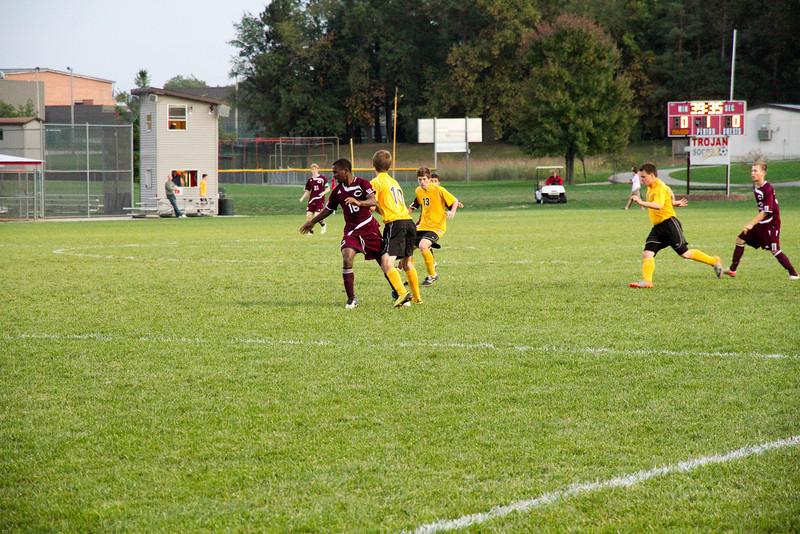 Varsity soccer vs. Central, 9/28/11.  Lost 0-4