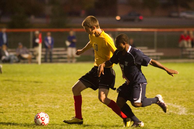 Varsity soccer vs. Centennial, 10/5/11