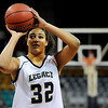 """Legacy High School senior Sade Akindele shoots a free-throw on Friday, March 4, in a game against Regis Jesuit High School during the Colorado High School """"Great 8"""" tournament at the Denver Coliseum. Legacy lost the game 59-67. For more photos go to  <a href=""""http://www.dailycamera.com"""">http://www.dailycamera.com</a><br /> Jeremy Papasso/ Camera"""