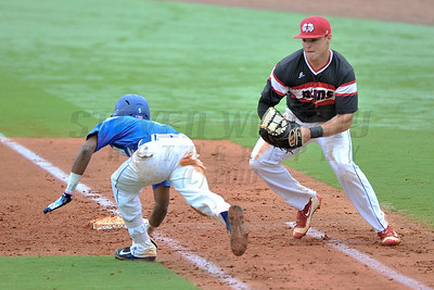 The 2016 CIAA Baseball Championships between Winston-Salem State (#1) and Chowan University (#2) at the USA Baseball National Training Complex in Cary, N.C. on April 30, 2016. Chowan Uniiversity wins the two games 11-2 and 7-2 to win the Championship. Photos by Steven Worthy for the CIAA ( Central Intercollegiate Athletic Association).