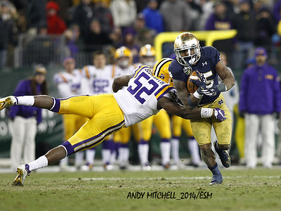 NCAA FOOTBALL: Music City Bowl LSU v Notre Dame