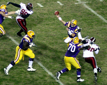 COLLEGE FOOTBALL 2008: Troy vs.LSU at Baton Rouge.  LSU wins in improbable comeback!