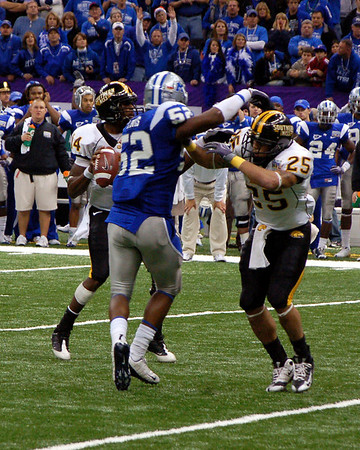 NCAA COLLEGE FOOTBALL 2009:  The New Orleans Bowl between the University of Memphis vs Southerm Mississippi.  Memphis wins