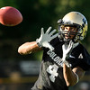 "University of Colorado's Keenan Canty makes a catch on Friday, Aug. 5, during the Buff's second football practice on the University of Colorado practice field in Boulder. For more photos and interviews from the practice go to  <a href=""http://www.dailycamera.com"">http://www.dailycamera.com</a><br /> Jeremy Papasso/ Camera"