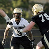 "University of Colorado's Douglas Rippy works on his defensive skills  on Friday, Aug. 5, during the Buff's second football practice on the University of Colorado practice field in Boulder. For more photos and interviews from the practice go to  <a href=""http://www.dailycamera.com"">http://www.dailycamera.com</a><br /> Jeremy Papasso/ Camera"