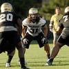 """University of Colorado's Jon Major on Friday, Aug. 5, during the Buff's second football practice on the University of Colorado practice field in Boulder. For more photos and interviews from the practice go to  <a href=""""http://www.dailycamera.com"""">http://www.dailycamera.com</a><br /> Jeremy Papasso/ Camera"""