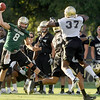 "University of Colorado quarterback Nick Hirschman makes a pass  on Friday, Aug. 5, during the Buff's second football practice on the University of Colorado practice field in Boulder. For more photos and interviews from the practice go to  <a href=""http://www.dailycamera.com"">http://www.dailycamera.com</a><br /> Jeremy Papasso/ Camera"