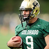 "University of Colorado quarterback Tyler Hansen on Thursday, Aug. 4, during the Buff's first football practice on the University of Colorado practice field in Boulder. For more photos and interviews from the practice go to  <a href=""http://www.dailycamera.com"">http://www.dailycamera.com</a><br /> Jeremy Papasso/ Camera"