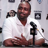 University of Colorado Head Coach Jon Embree speaks with reporters during a press conference on Saturday, Aug. 6, at CU's Media Day at the Dal Ward Athletic Center on the CU Boulder campus in Boulder.<br /> Jeremy Papasso/ Camera