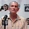 "University of Colorado cross country and track head coach Mark Metmore speaks during a press conference on Saturday, Aug. 6, at CU's Media Day at the Dal Ward Athletic Center on the CU Boulder campus in Boulder. For more photos and video of media day go to  <a href=""http://www.dailycamera.com"">http://www.dailycamera.com</a><br /> Jeremy Papasso/ Camera"