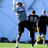 Josh Morton (39) makes a catch during the University of Colorado football team practice on Tuesday March 20, 2012.<br /> For more photos of the game go to www.buffzone. com<br /> Photo by Paul Aiken / The Camera