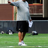 "University of Colorado wide receiver coach Bobby Kennedy points in the direction he want the routes to be ran on Friday, Aug. 10, during the CU Football Fall Camp at the practice fields in Boulder. For more photos of the practice go to  <a href=""http://www.dailycamera.com"">http://www.dailycamera.com</a><br /> Jeremy Papasso/ Camera"