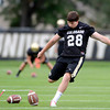"University of Colorado place kicker Will Oliver practices his field goals during football practice on Monday, Aug. 6, at the CU practice field in Boulder. For more photos of the practice go to  <a href=""http://www.dailycamera.com"">http://www.dailycamera.com</a><br /> Jeremy Papasso/ Camera"