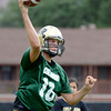 """University of Colorado quarterback Stevie Joe Dorman passes the ball during football practice on Monday, Aug. 6, at the CU practice field in Boulder. For more photos of the practice go to  <a href=""""http://www.dailycamera.com"""">http://www.dailycamera.com</a><br /> Jeremy Papasso/ Camera"""