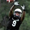 "University of Colorado receiver Jeff Thomas catches a pass during football practice on Monday, Aug. 6, at the CU practice field in Boulder. For more photos of the practice go to  <a href=""http://www.dailycamera.com"">http://www.dailycamera.com</a><br /> Jeremy Papasso/ Camera"
