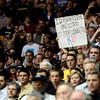 Kansas' fans have their say during their game at the University of Colorado in Boulder, Colorado January 24, 2011.  CAMERA/Mark Leffingwell