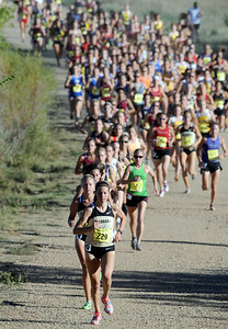 Shalaya Kipp of CU leads the pack and later wins the Rocky Mountain Shootout on Saturday.  Cliff Grassmick / October 1, 2011