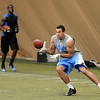 "Taylor Embree, Jon's son, catches passes from Tyler Hansen as Toney Clemons watches.<br /> University of Colorado football players showed their skills to NFL scouts on Thursday during CU pro timing day.<br /> For a video and more photos of timing day, go to  <a href=""http://www.dailycamera.com"">http://www.dailycamera.com</a>.<br /> Cliff Grassmick / March 8, 2012"