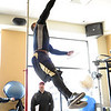 "Rodney Stewart does the vertical jump for the scouts.<br /> University of Colorado football players showed their skills to NFL scouts on Thursday during CU pro timing day.<br /> For a video and more photos of timing day, go to  <a href=""http://www.dailycamera.com"">http://www.dailycamera.com</a>.<br /> Cliff Grassmick / March 8, 2012"
