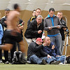 "NFL scouts and pro staff time players in the 40-yard dash.<br /> University of Colorado football players showed their skills to NFL scouts on Thursday during CU pro timing day.<br /> For a video and more photos of timing day, go to  <a href=""http://www.dailycamera.com"">http://www.dailycamera.com</a>.<br /> Cliff Grassmick / March 8, 2012"