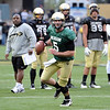 "CU QB  Connor Wood looks for the open man during the Spring scrimmage.<br /> For more photos of the game, go to  <a href=""http://www.dailycamera.com"">http://www.dailycamera.com</a><br /> Cliff Grassmick / April 14, 2012"